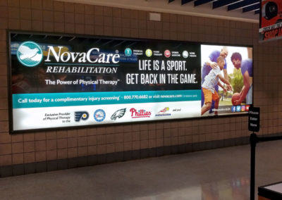NovaCare Wells Fargo Concourse Display